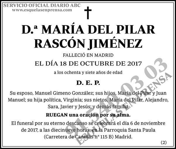 María del Pilar Rascón Jiménez